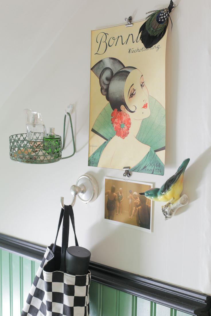 Väggstilleben, lilla toan på övervåningen. Foto: Erika Åberg