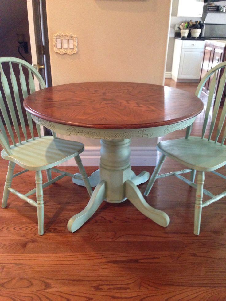 17 best ideas about painted oak table on pinterest. Black Bedroom Furniture Sets. Home Design Ideas