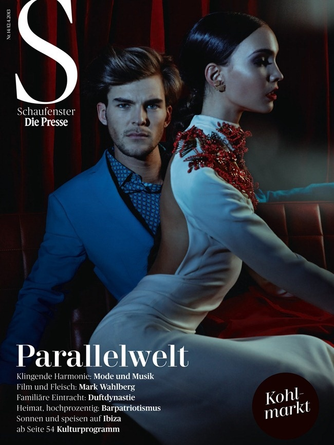 DIE PRESSE MAGAZINE: Patrick Kafka & Lara Marchetti by Photographer Rafaela Proll - Image Amplified: The Flash and Glam of All Things Pop Culture. From the Runway to the Red Carpet, High Fashion to Music, Movie Stars to Supermodels.