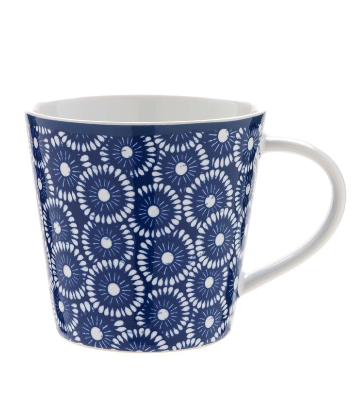 This blue patterned mug is a bright addition to your crockery collection.  Priced at £4. #sainsburys #autumndreamhome