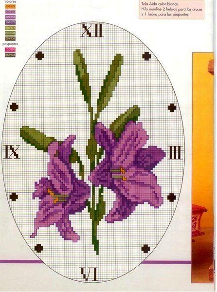 ♥Meus Gráficos De Ponto Cruz♥: Lindas Flores em Ponto Cruz