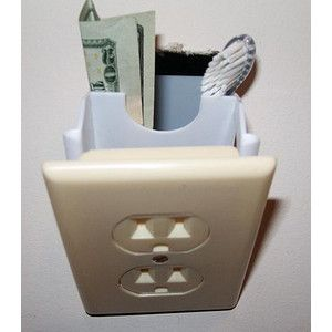 Creative, Cost Effective Hidden Wall Safe.  Especially when I need to hide my toothbrush.  :-P