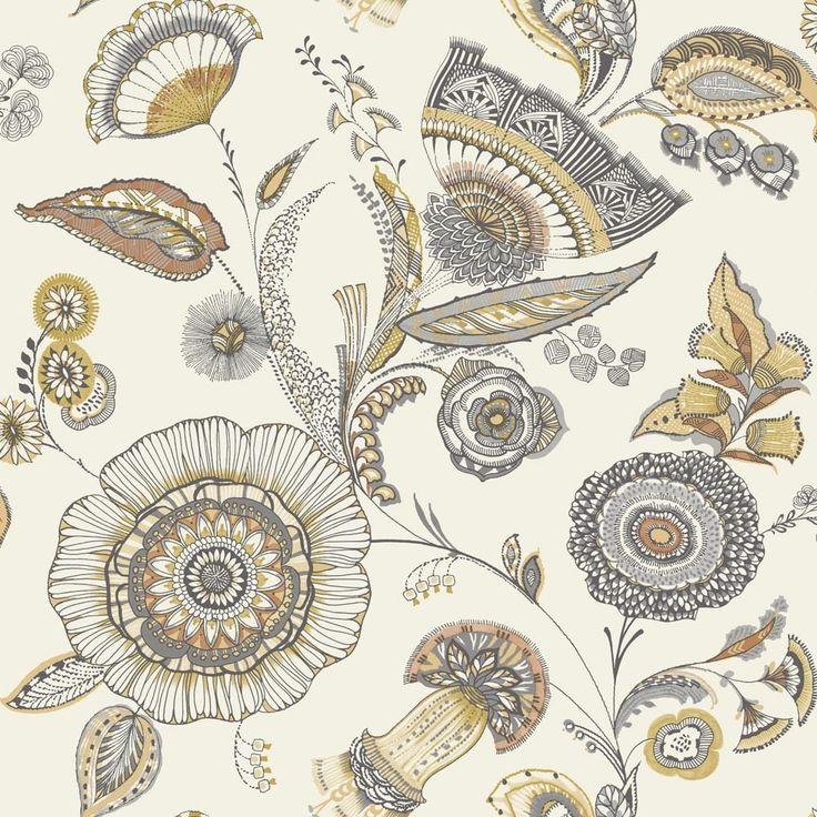 Arthouse Catarina Floral Leaf Pattern Wallpaper Metallic Motif 690801