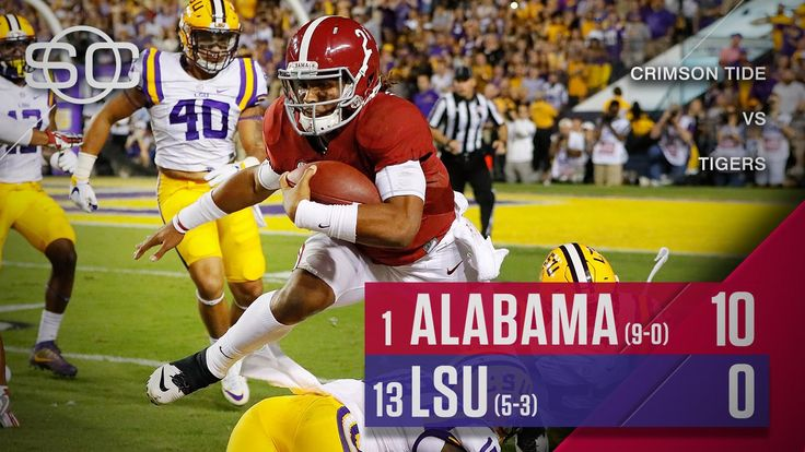 SportsCenter on Twitter: ROLL TIDE!  Alabama wins its 6th-straight game over LSU and 13th-consecutive against an AP-ranked opponent to remain unbeaten 11/05/2016