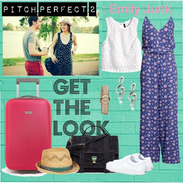 Get The Look : Hailee Steinfeld as Emily Junk by fitapermatasari on Polyvore featuring H&M, Vans, Proenza Schouler, MARC BY MARC JACOBS, Tressa, Monsoon, GetTheLook, movies and pitchperfect2