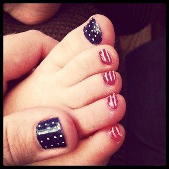 Yay!: July Nails, American Flags Nails, Fourth Of July, Usa Nails, 4Th Of July, Nails Polish, July 4Th, Toe Nails Patriots, Toenails Art