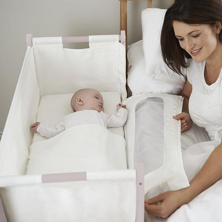 SNUZPOD Bedside Crib 3 in 1 in Blush (with mattress)