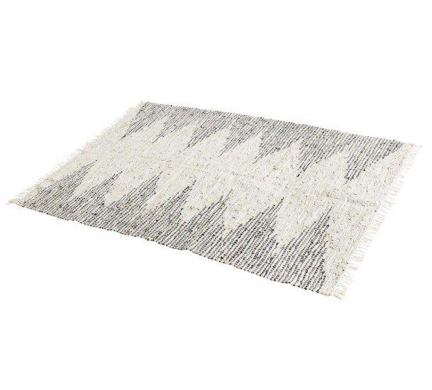 Muubs Big Tæppe - Beige læder - Beige tæppe med genbrugslæder