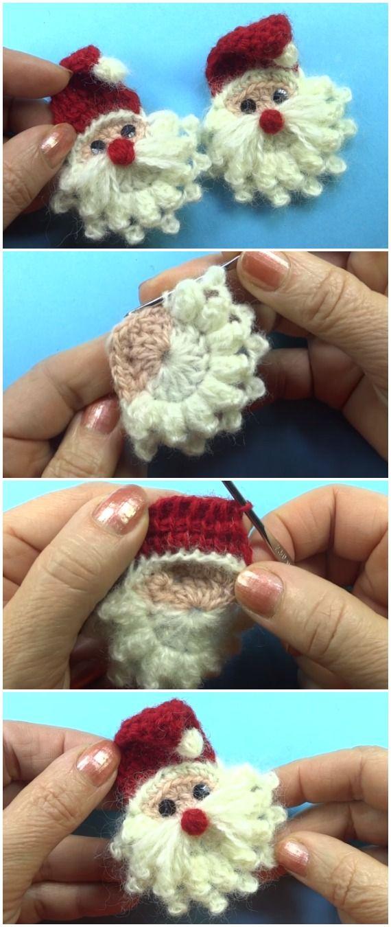 Learn To Crochet Santa Applique