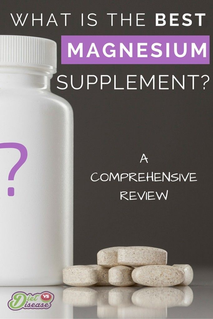 What is the best magnesium supplement available? This article is a comprehensive review of all the different types, and what's best for you. Click through to see more: http://www.dietvsdisease.org/best-magnesium-supplement