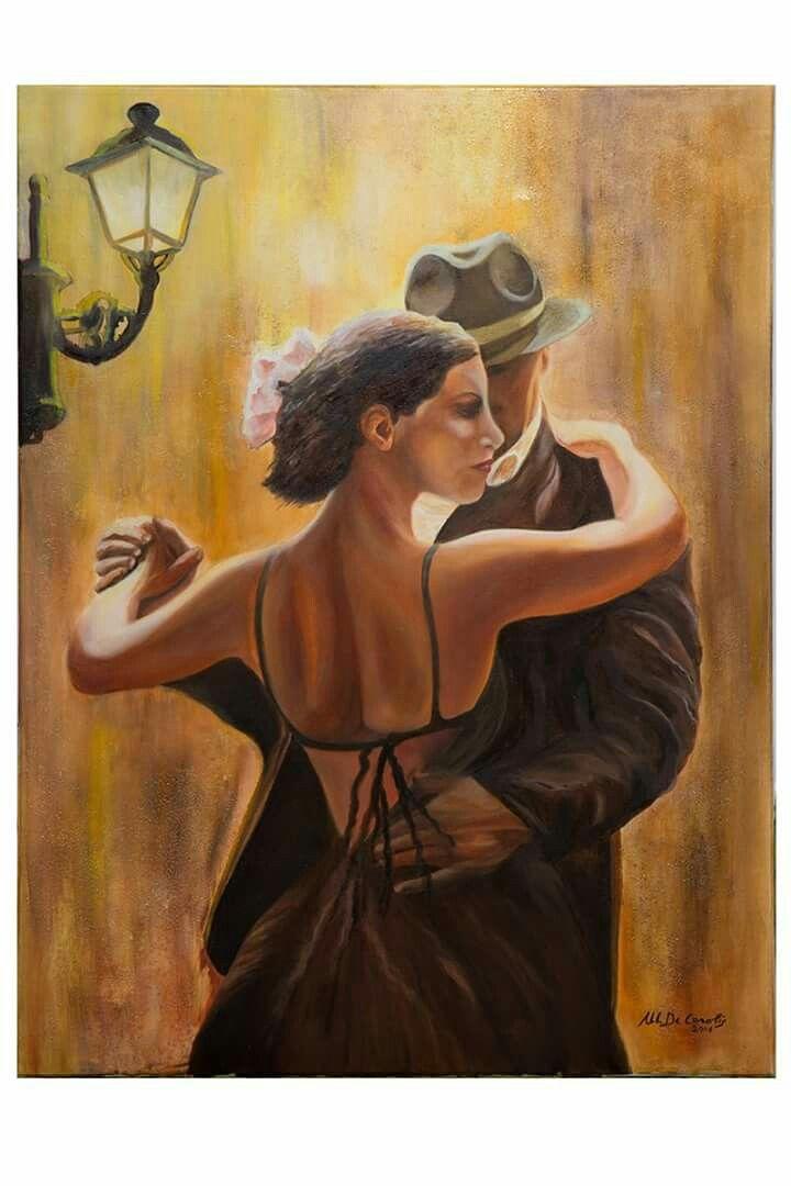 """""""Tango anni 30"""" - olio su tela 50x80"""