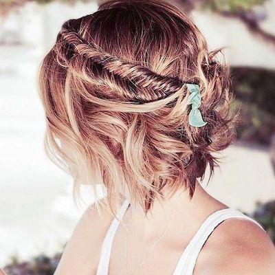 20 Gorgeous Updo peinados para el pelo corto