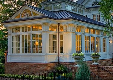 Solid roof conservatory/ sunroom.