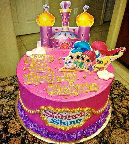 Shimmer and shine buttercream cake!