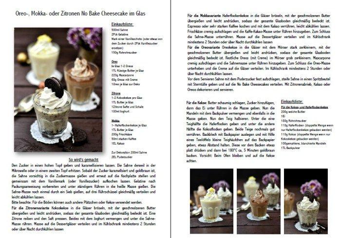 No Bake Cheesecake im Glas mit Oreo, Mokka oder Zitrone | Das Knusperstübchen
