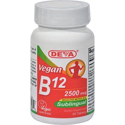 Deva Vegan Vitamins Sublingual B12 - 2500 mcg - 90 Tablet