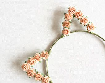 Pearl Cat Ears Headband Kitty Ears Headband Cat Ears by beauxoxo