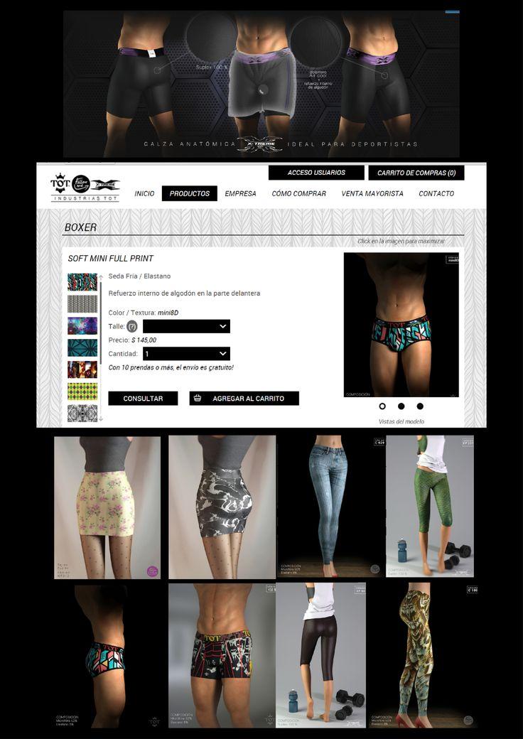 Catalogo WEB Estos trabajos son unos de los tantos realizados para TOT,una marca de ropa deportiva Rosarina de exelente calidad y diseños innovadores.