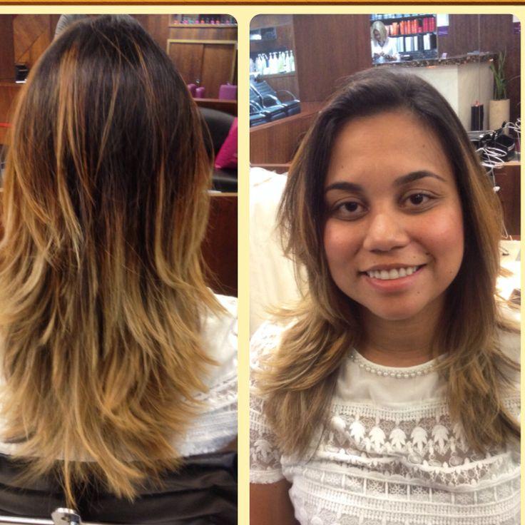 Ombre hair dourado iluminado @fabiooliveirahair