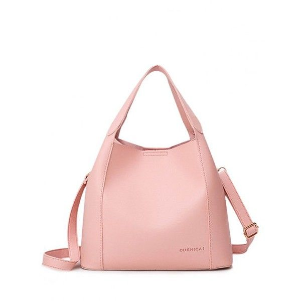 Faux Leather Cross Body Tote Bag Pink ($22) ❤ liked on Polyvore featuring bags, handbags, tote bags, zaful, white tote, pink crossbody, white crossbody purse, vegan tote bags and pink purse