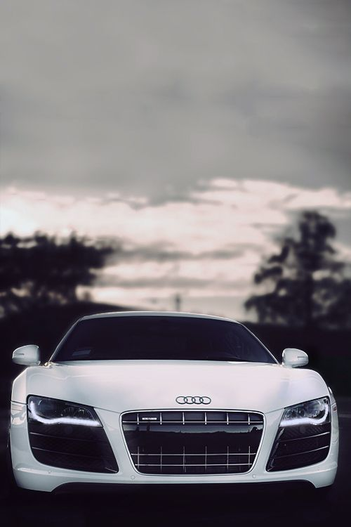 Beautiful White Audi customized cars luxury sports cars ferrari vs lamborghini celebritys