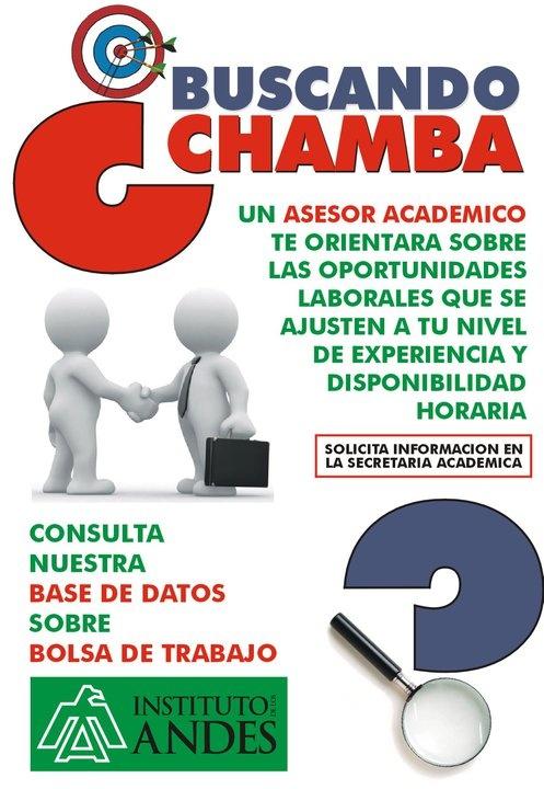BUSCANDO CHAMBA