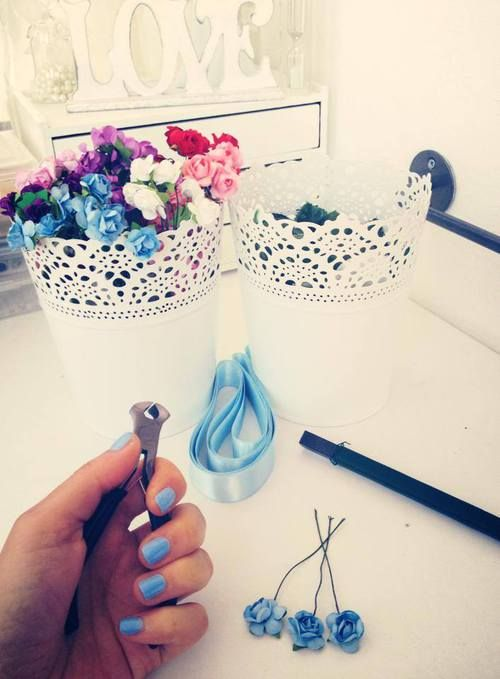 Hello August!   Work time!   #accessoriesmaria #handmade #work #flowers #colors #corown #summer2014  #august #hello