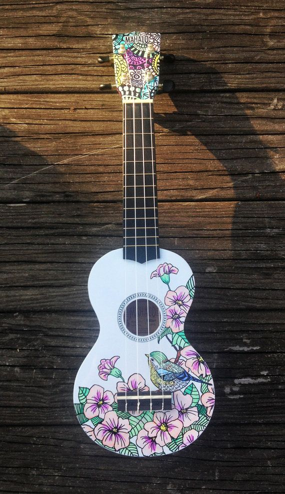 Hand-decorated Soprano Ukulele - BLOSSOM