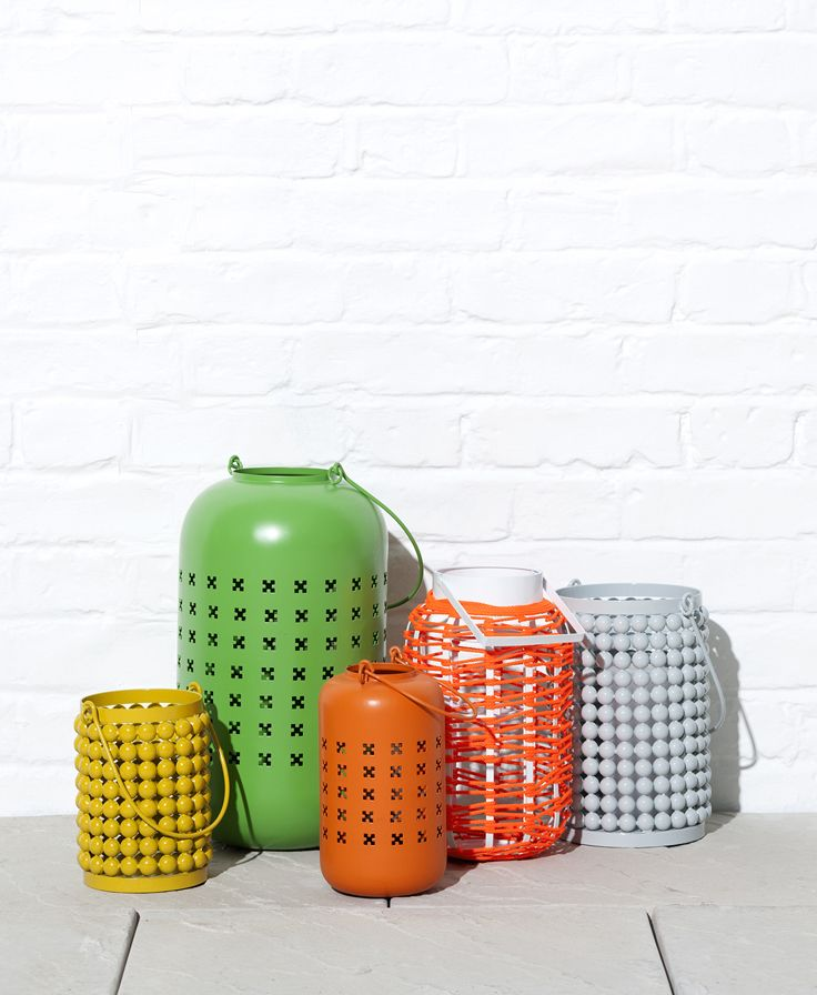 Bright, decorative lanterns for the garden, to keep you going into the Summer evenings