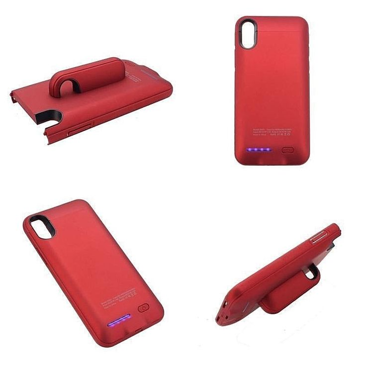 Apple Iphone X Extended Slim Battery Charger Case 4000mAh Juice Bank Cover Red #DealsToday