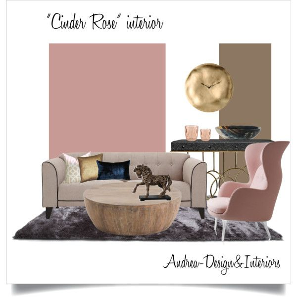 Cinder Rose Farrow&Ball paint by andrea-szakos on Polyvore featuring interior, interiors, interior design, home, home decor, interior decorating, Laurence Llewelyn-Bowen, Diamantini & Domeniconi, Kartell and Schumacher