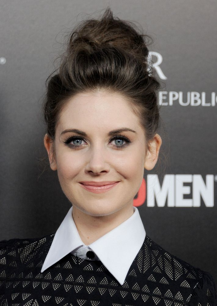 Alison Brie - buns are so adorable ...if you have long hair.
