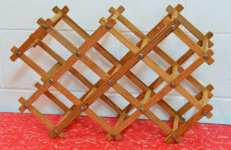The compacting wood wine-rack.