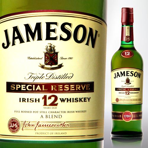 Jameson Irish Whiskey 12 Year.