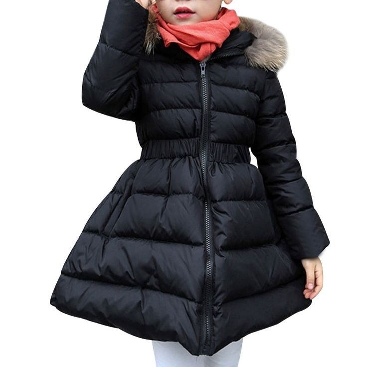(29.01$)  Know more  - Kids Winter Jacket 2016 New Fashion Girls Winter Jacket Long Sleeved Girls Down Coat 2 Colors Hooded Fur Winter Jacket For Girls