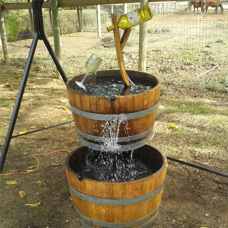 12 best images about conants wine barrel creations for Wine bottle fountain