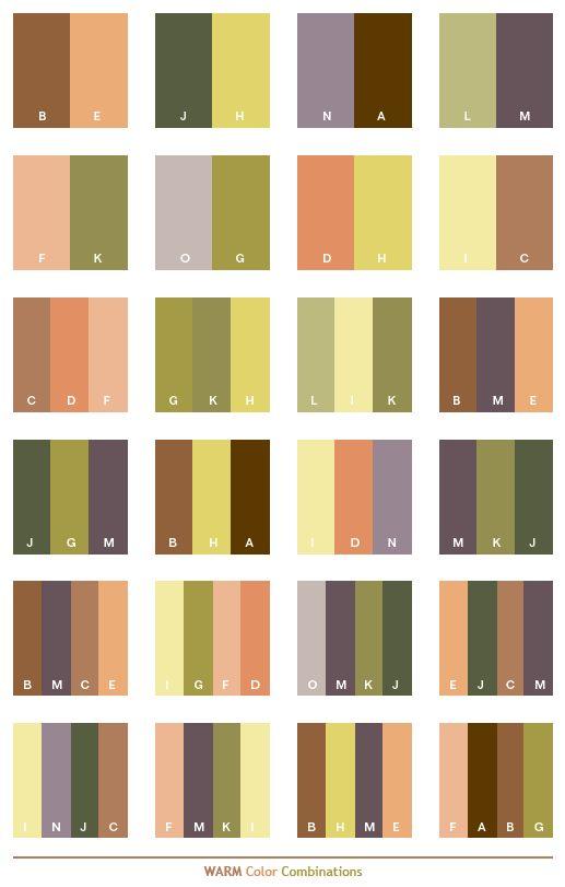 Warm color combinations