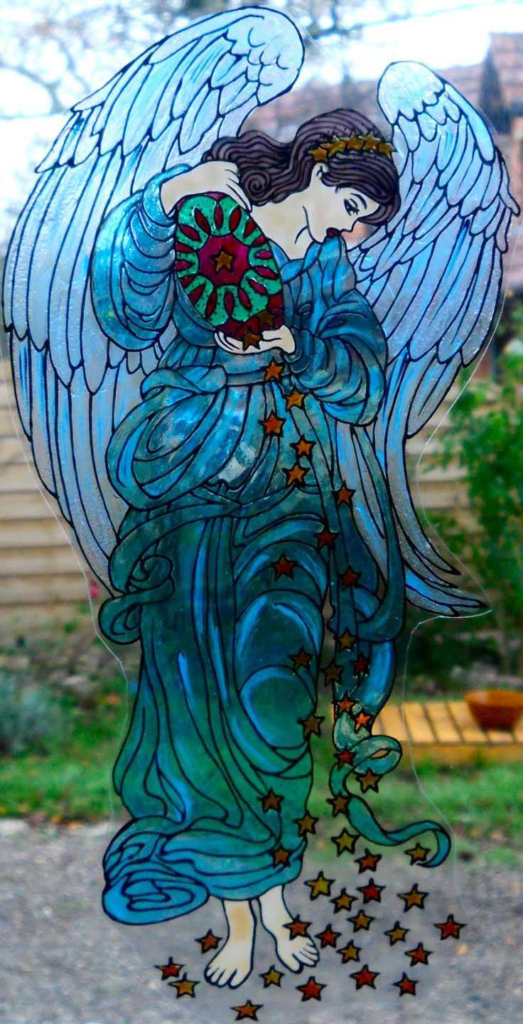 Wicoart Handmade Stained Glass Effect Window Cling Easy To