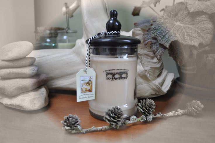 I remember when... a lovely candle with upto 80 hours burn time.  Perfect for that contemporary home.  http://www.netcandles.net/Product/BW032-094-90__dot__1/Bridgewater-Jar-Candle-Welcome-Home