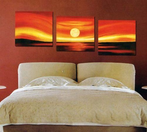 Cool Painting Idea Use Honeymoon Photo Stretched Over 3 Canvases