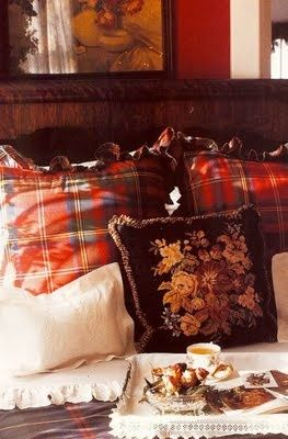 tartan and tapestry.