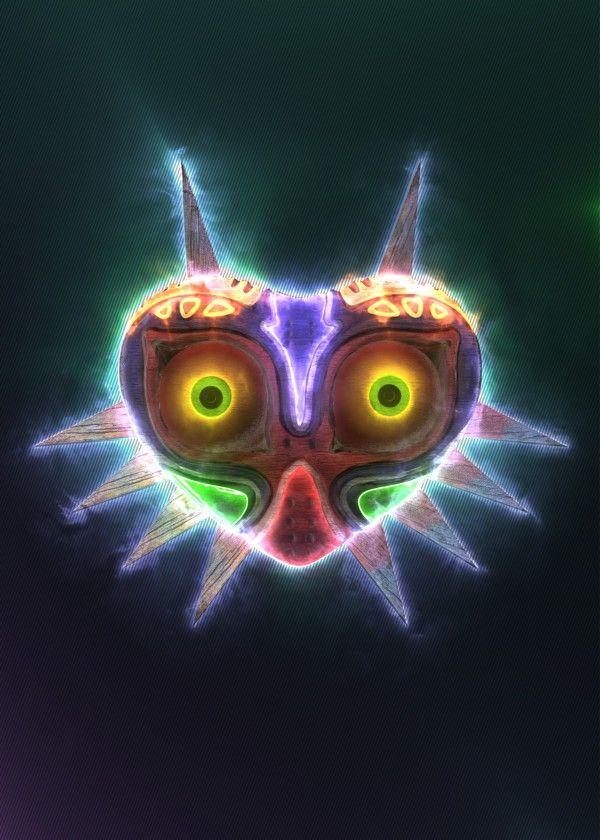 3D Majora's Mask Emblem. (modeling, post-production, edition #game #gaming #video #design #poster #metal #displate #home #decor #homedecor