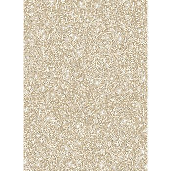 White & Paper Bag Floral Wrapping Paper