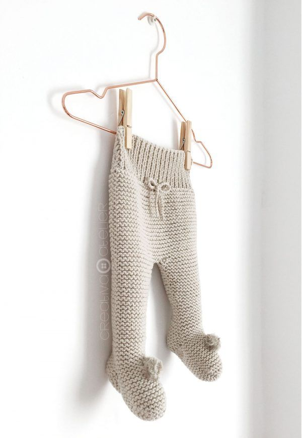 Polaina de punto NUR - Tutorial y Patrón | ropa bebe | Punto, Punto ...