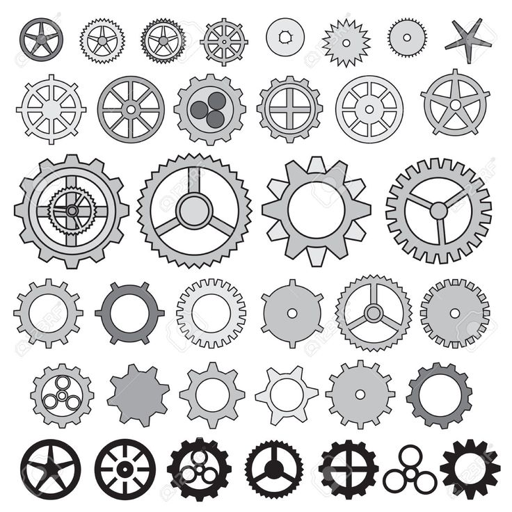 Steampunk Gear Collection Machine Gear, Wheel Cogwheel Vector .