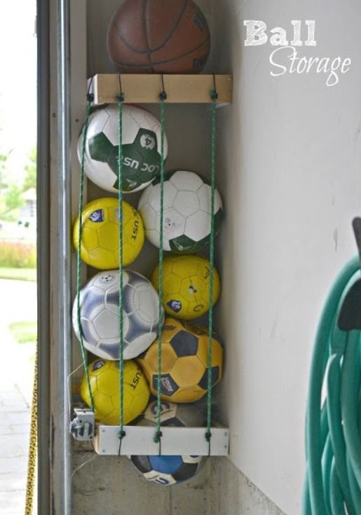 DIY Ball Storage-60 New Uses For Everyday Items