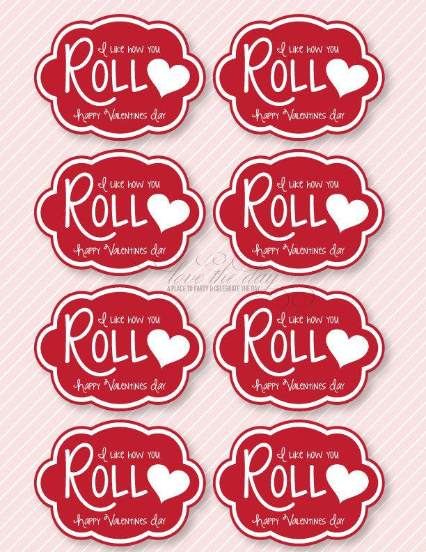'I Like How You Roll' DIY Valentine Printable