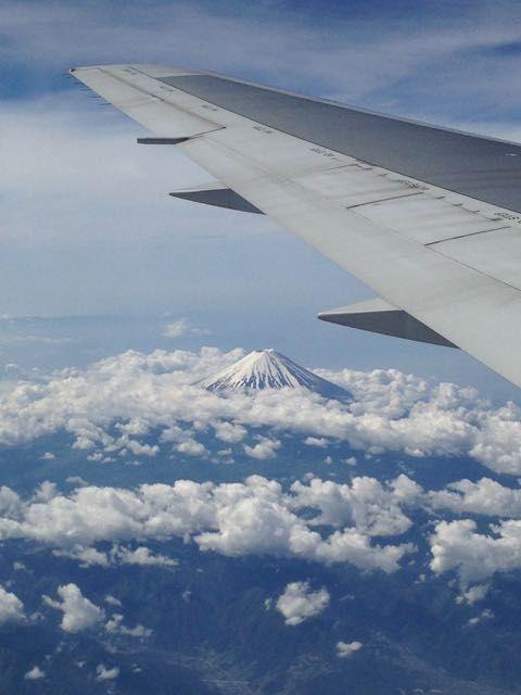 Mt. Fuji on a flight to Seoul