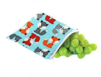 fox sandwich bag www.pennyfarthingkids.com.au #pennyfarthingkids  #itzyritzy #snackpack #reusable