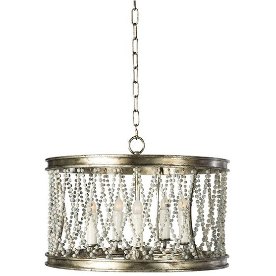 Lighting Chandeliers Silver Amber Barrel Pendant